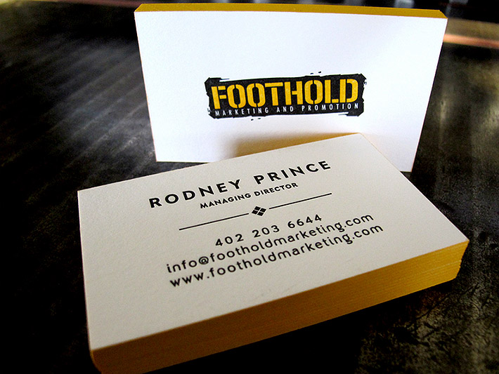 Cool letterpress business card stephen di donato cardrabbit cool letterpress business cards foothold reheart Choice Image