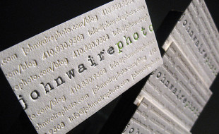 Cool Letterpress Business Card - John Waire