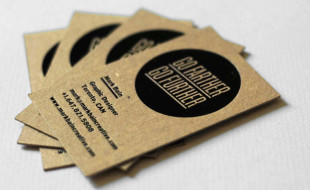 Cool Letterpress Business Card - Mark Bain