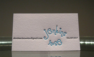 Creative Letterpress Business Card - Dondrea