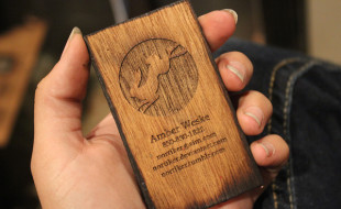 Laser Cut Wooden Business Cards – Amber Weske