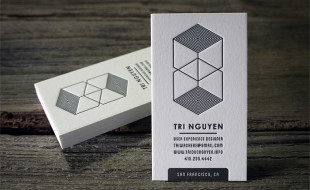 Letterpress Business Card - Tri Nguyen