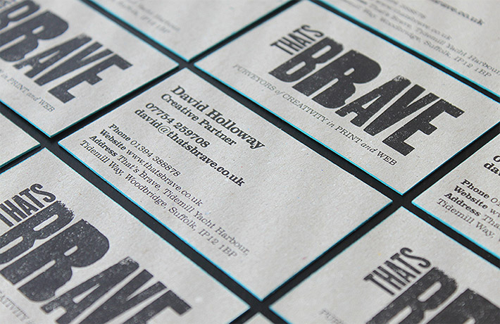 Letterpress Business Cards - That's Brave