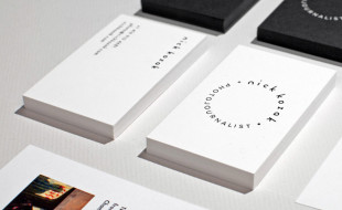 Minimalistic Business Cards - Nick Kozok