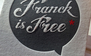 Unique Letterpress Business Card - Franck is Free