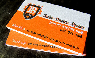Cool Letterpress Business Card - JB Tire
