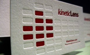 Cool Letterpress Business Card - Kinetic Lens