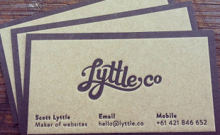 Letterpress Business Card - Lyttle