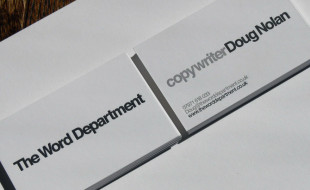 Minimalistic Business Card - The Word Department