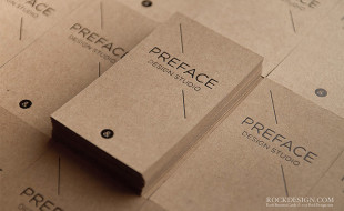 Minimalistic Letterpress Business Cards - Preface