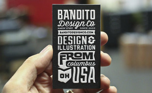 Unique Letterpress Business Card - BanditoDesignCo