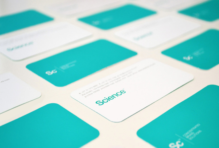 Business card with rounded corners science cardrabbit business card with rounded corners science colourmoves