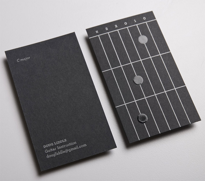 Cool Business Cards - Doug Liddle Guitar Instruction