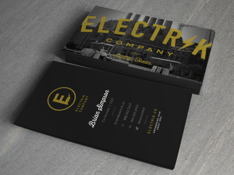 Custom Business Card - Elektrik Company