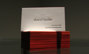 Amazing Letterpress Business Card - David Burke