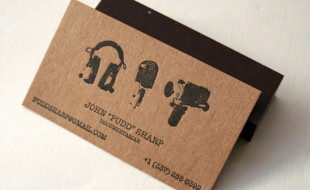 Cool Letterpress Business Card - John Pudd Sharp