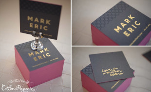 Cool Square Business Cards - Mark Eric