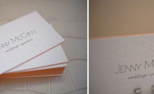 Custom Letterpress Business Card - Jenny McCann