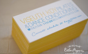 Custom Letterpress Business Card - Viseuth Koy