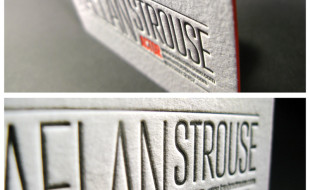Unique Letterpress Business Card - Kaelan Strouse