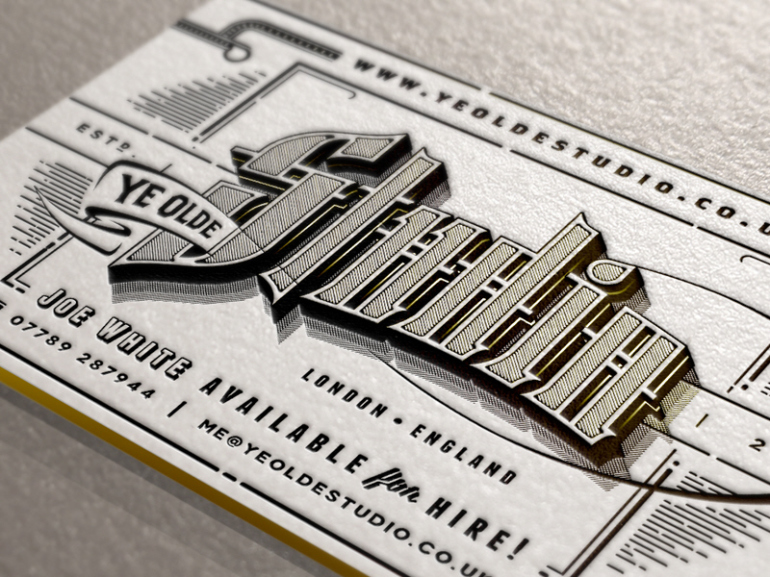 Cool Letterpress Business Card - Joe White
