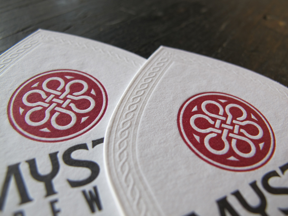 Amazing Letterpress Business Card – Lord Fern Brewery | CardRabbit.com