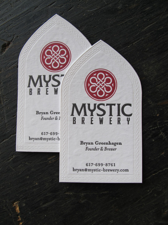 Gorgeous Letterpress Business Cards - Mystic Brewery