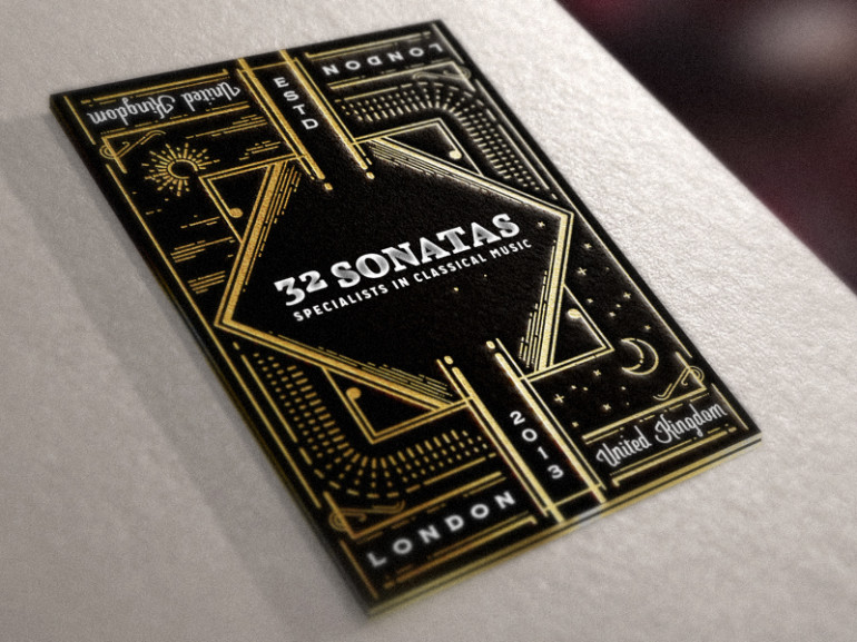 unique business card 32 sonatas - Amazing Business Cards