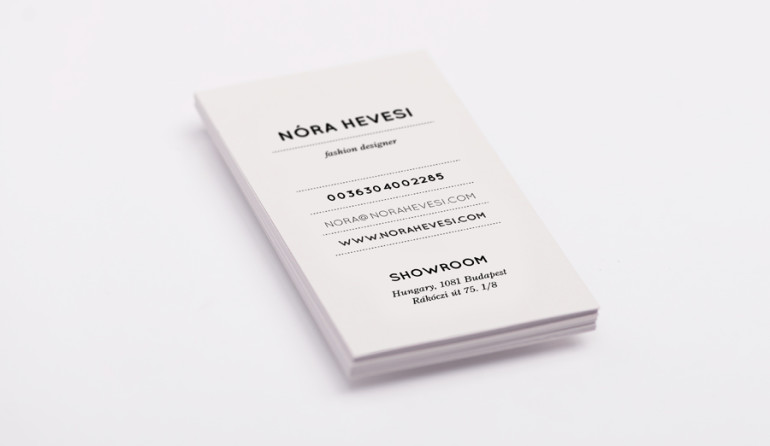 Business Cards - Nora Hevesi - Fashion Designer