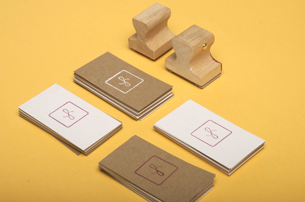 Stamped Business Cards with QR Code