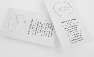 Cool Letterpress Business Card - Seam