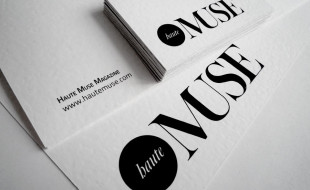 Minimalistic Business Cards - Haute Muse