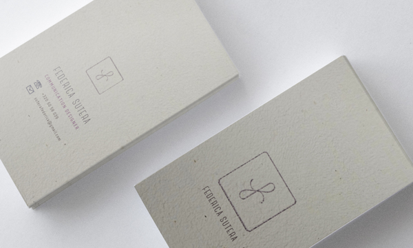 Unique Minimalistic Business Card - Frederica Sutera