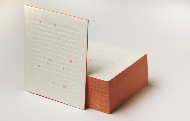 Creative Blind Letterpressed Business Cards
