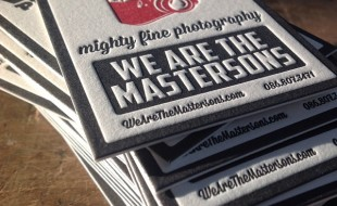 Unique Letterpressed Business Cards - WATM Photography