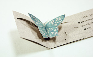 Amazing Butterfly Popup Business Card