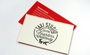 Custom Business Card - Taxi Studio