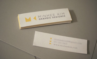 Custom Mini Business Cards - Minhee Kim