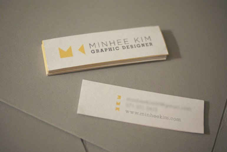 Creative mini business cards gallery card design and card template mini business card gallery business card template custom mini business cards minhee kim cardrabbit custom mini flashek Image collections