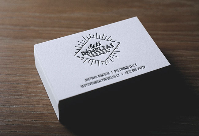 Letterpress Business Cards For A Wedding Photographer