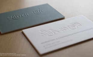 Amazing Letterpress Business Card - Karen Adie 2