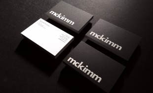 Cool Black Letterpress Business Cards - McKimm