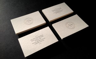 Minimalistic Letterpress Business Card - La Bimba