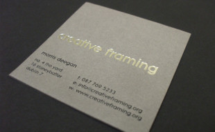 Square Business Card - Creative Framing