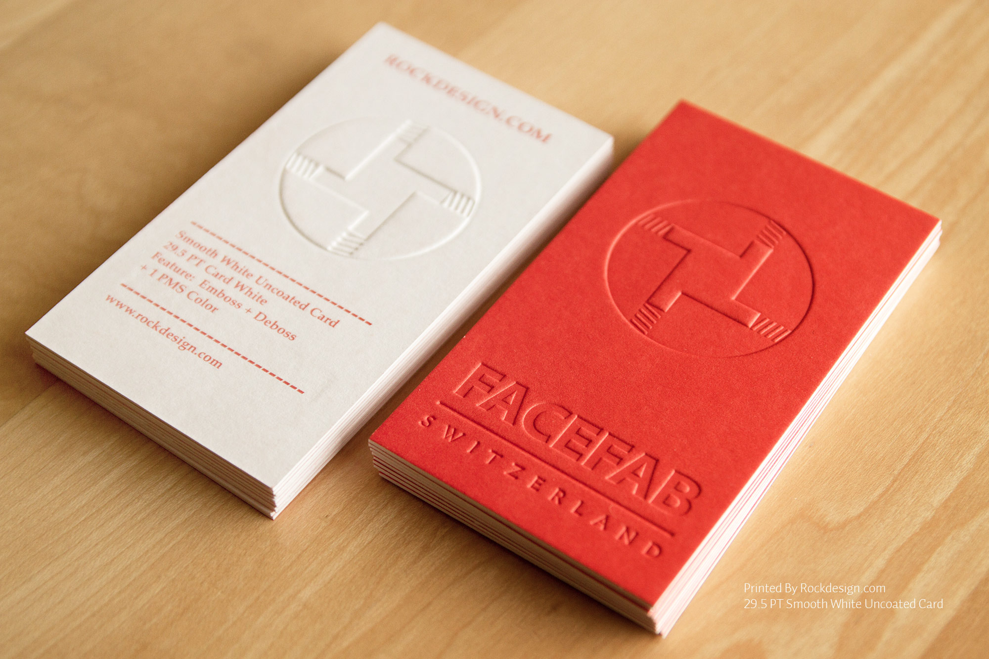 Uncoated Letterpress Business Card – Metropolita | CardRabbit.com