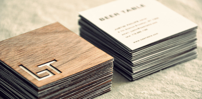 Unique square half wooden business cards beer table cardrabbit unique square half wooden business cards beer table reheart Choice Image