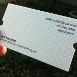 Letterpress Business Card – Jeff Brouillet