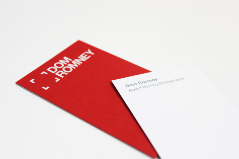 Minimalistic Red Business Card – Dom Romney | CardRabbit.com