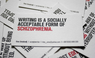 Uniquely Witty Screenwriters Business Cards Tina Smalcelj