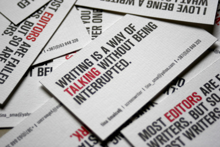 Uniquely witty screenwriters business cards tina smalcelj witty writers business cards tina smalcelj2 colourmoves